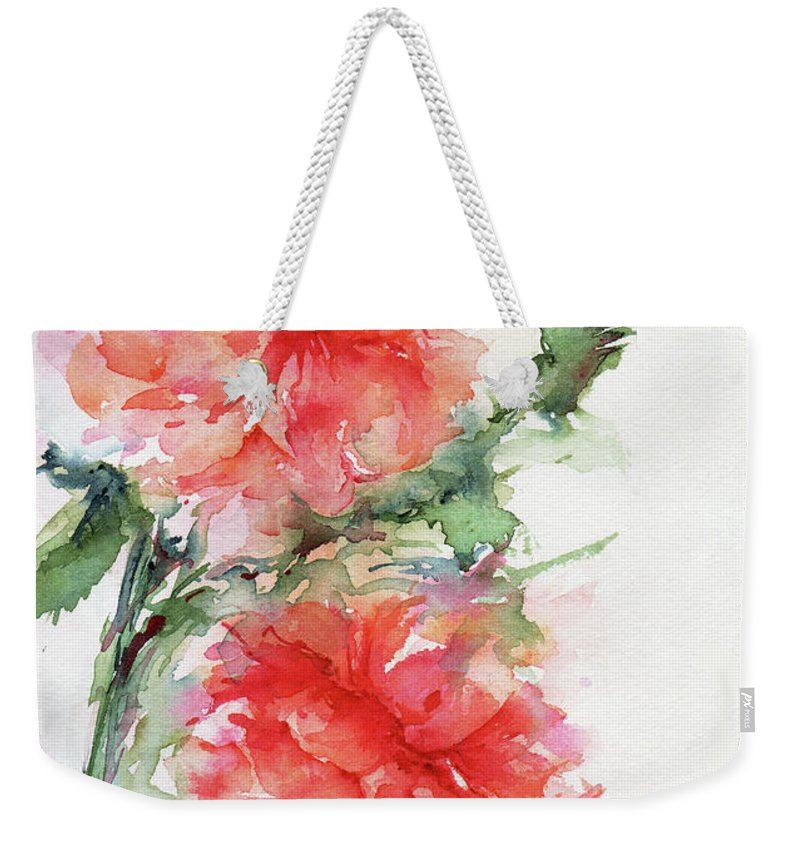 Stephie Weekender Tote Bag featuring the painting Flower Of My Dreams by Stephie Butler