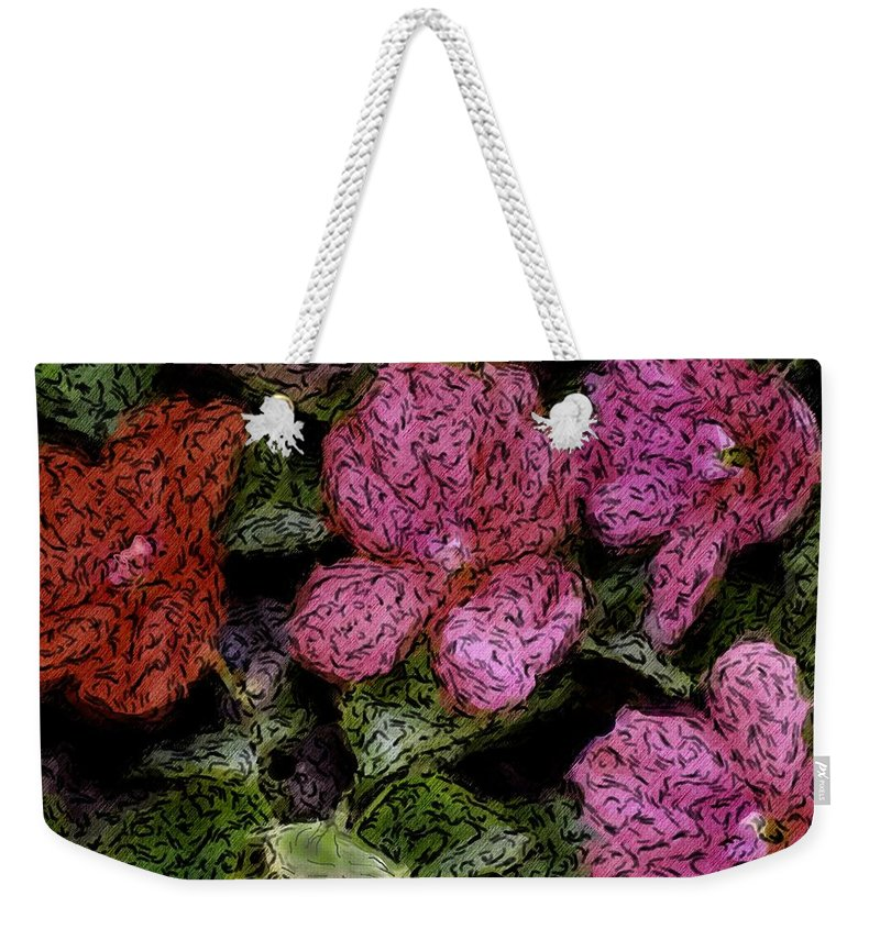 Digital Photograph Weekender Tote Bag featuring the photograph Flower Sketch by David Lane