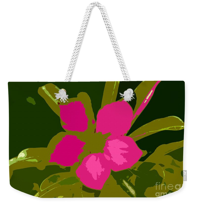 Flower Weekender Tote Bag featuring the photograph Flower Work Number 17 by David Lee Thompson