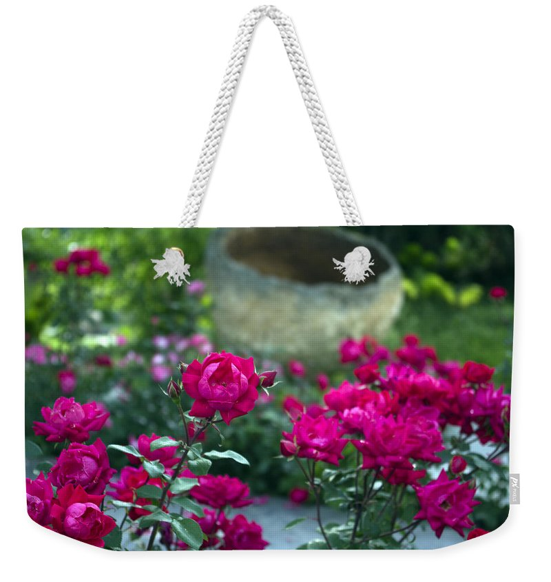 Flowers Weekender Tote Bag featuring the photograph Flowering Landscape by Scott Wyatt