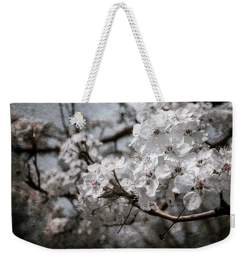 Flowers On Canvas Weekender Tote Bag featuring the photograph Flowering Tree by Garett Gabriel