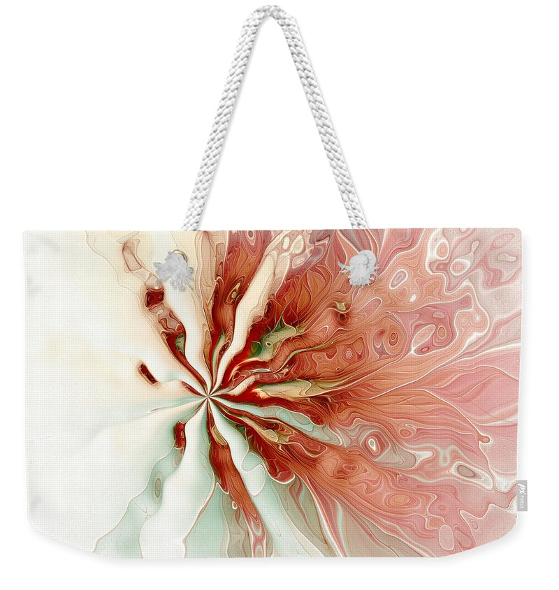 Fractal Weekender Tote Bag featuring the digital art Flowers 008 by Amanda Moore