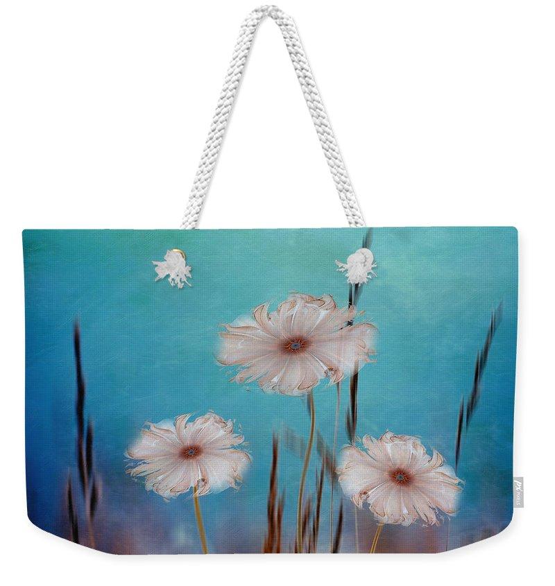 Abstract Weekender Tote Bag featuring the digital art Flowers For Eternity 2 by Klara Acel