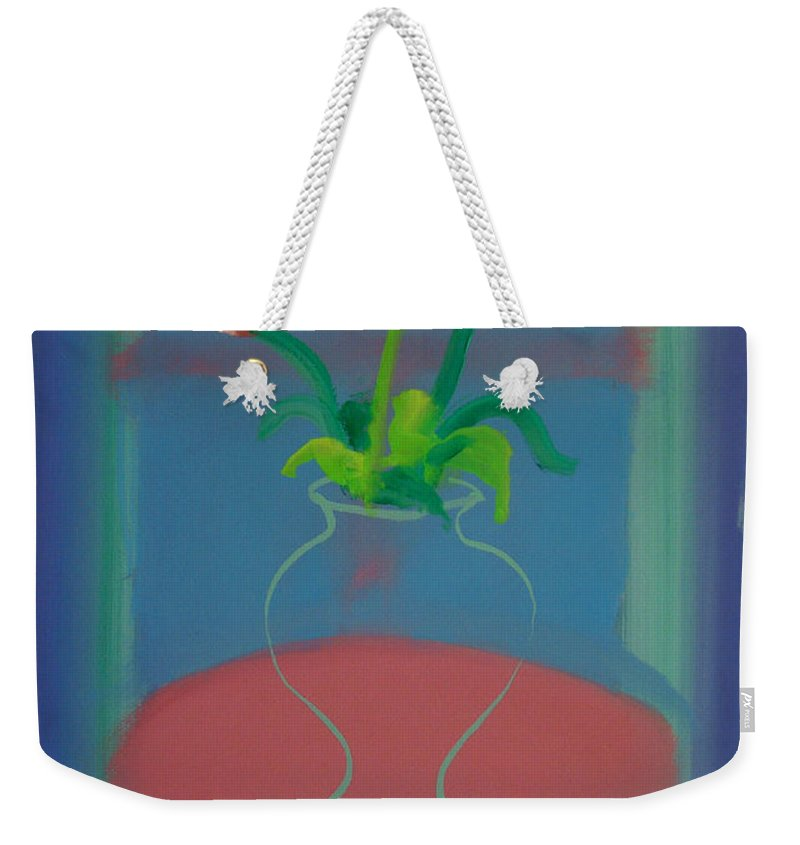 Dufy Weekender Tote Bag featuring the painting Flowers In A Bay Window by Charles Stuart
