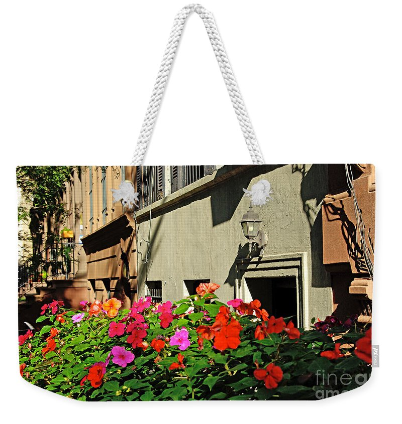 Flowers Weekender Tote Bag featuring the photograph Upper West Side, New York by Zal Latzkovich