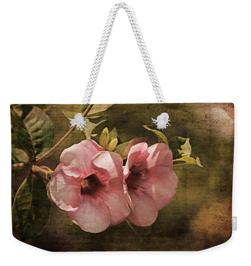 Purple Allamanda Weekender Tote Bag featuring the photograph Flowers - Purple Allamanda 2 by HH Photography of Florida