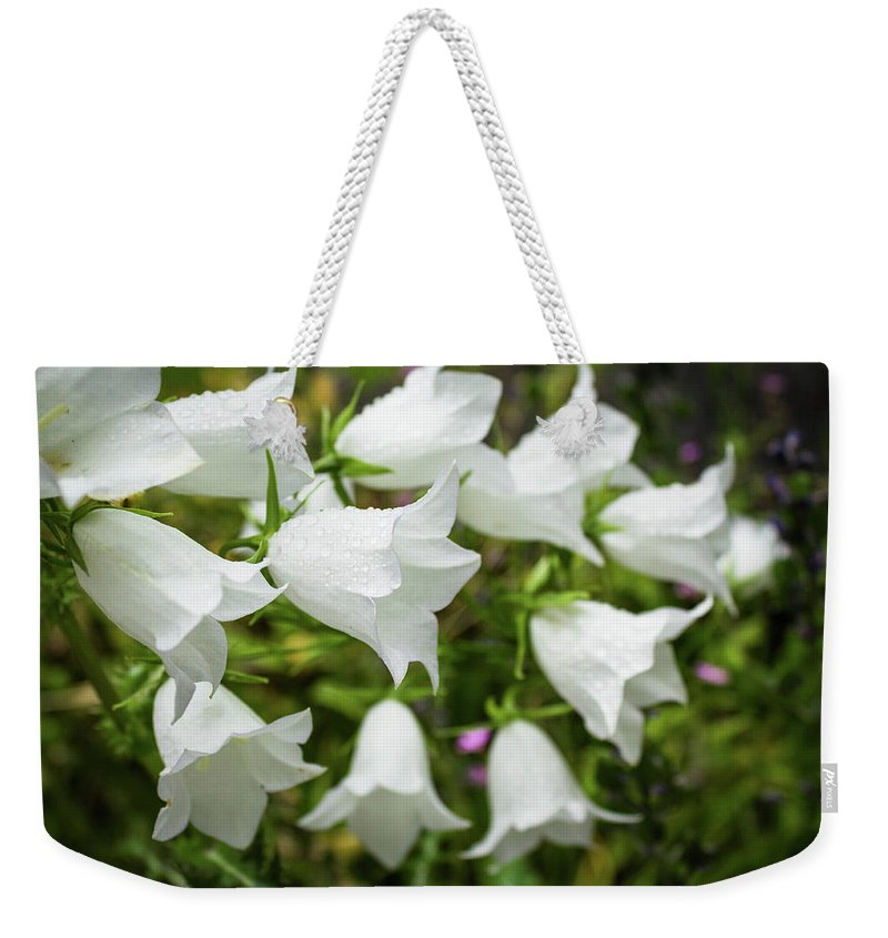Flower Weekender Tote Bag featuring the photograph Flowers With Droplets 2 by Mark Denton
