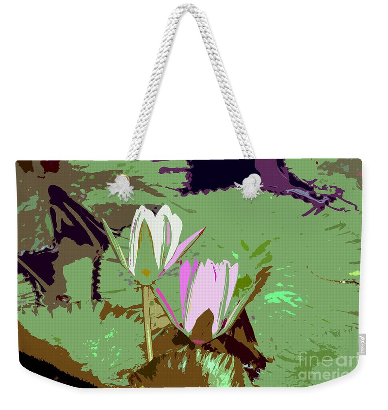 Flowers Weekender Tote Bag featuring the photograph Flowers Work Number 3 by David Lee Thompson