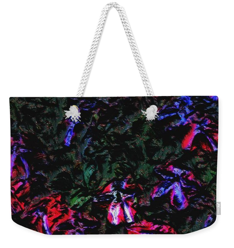 Digital Photograph Weekender Tote Bag featuring the photograph Flowerstudy9-21-09 by David Lane