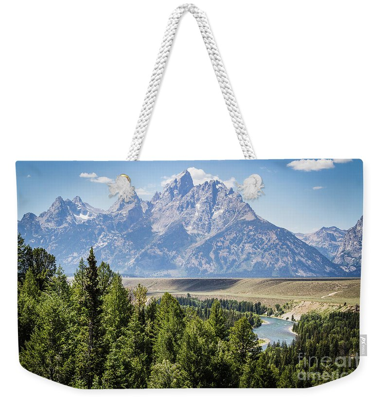 Nature Weekender Tote Bag featuring the photograph Flowing In The Forest by Mirko Chianucci