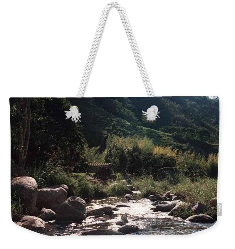 Profile Weekender Tote Bag featuring the photograph Flowing Nature by David Cardona