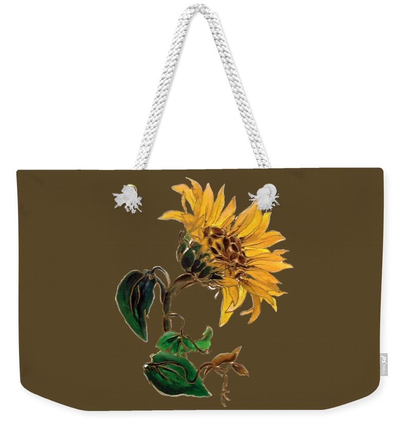Weekender Tote Bag featuring the painting Flower Power T-shirt by Herb Strobino