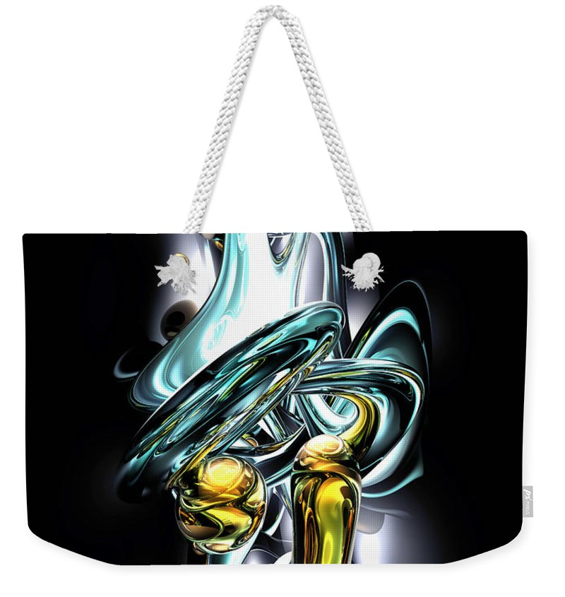 3d Weekender Tote Bag featuring the digital art Fluidity Abstract by Alexander Butler