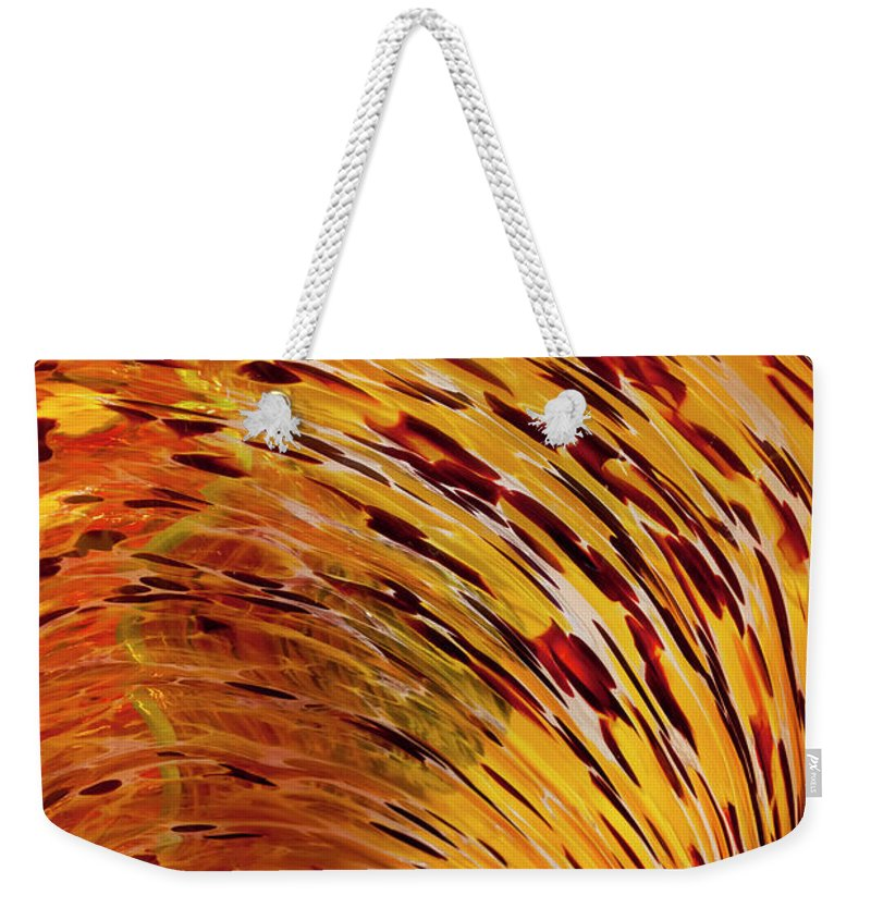 Blown Glass Weekender Tote Bag featuring the photograph Flushed by Janet Fikar