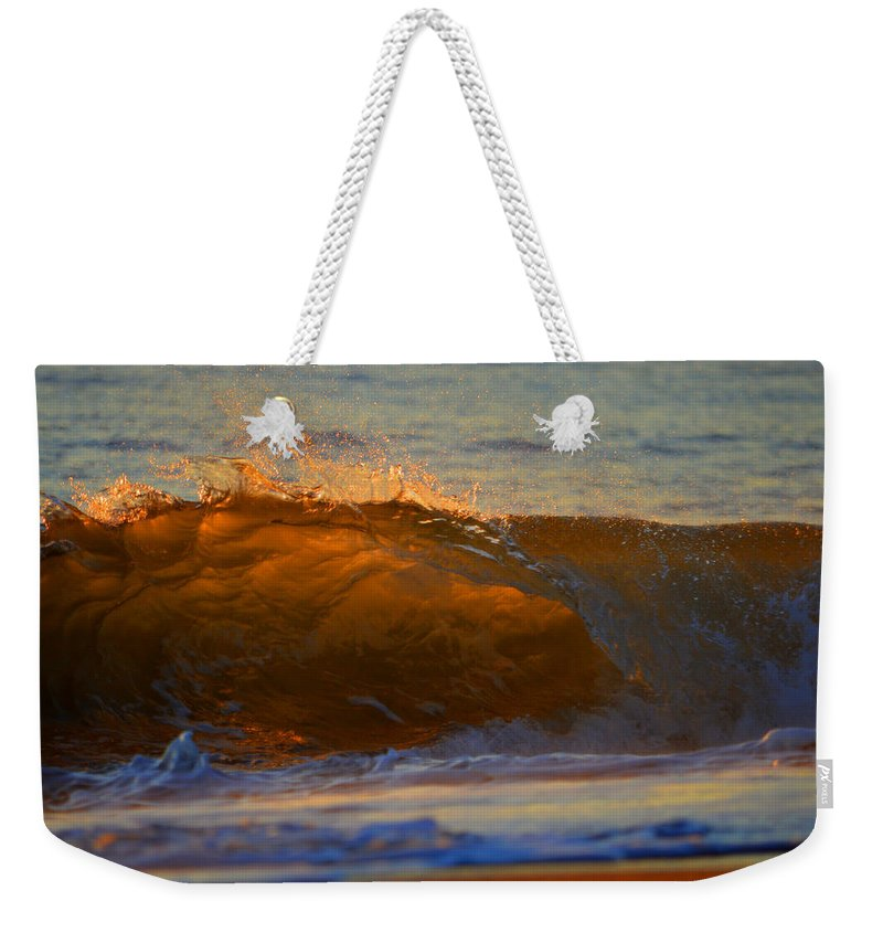 Ocean Weekender Tote Bag featuring the photograph Flutter Of Amber by Dianne Cowen
