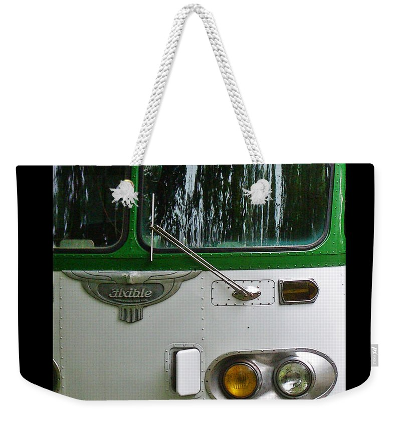 Flxible Weekender Tote Bag featuring the photograph Flxible by Tim Nyberg