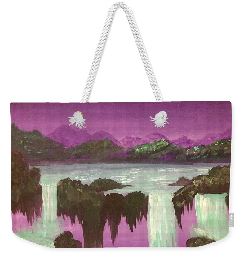 Mystical Weekender Tote Bag featuring the painting Fly With Me by Tasha Ramirez