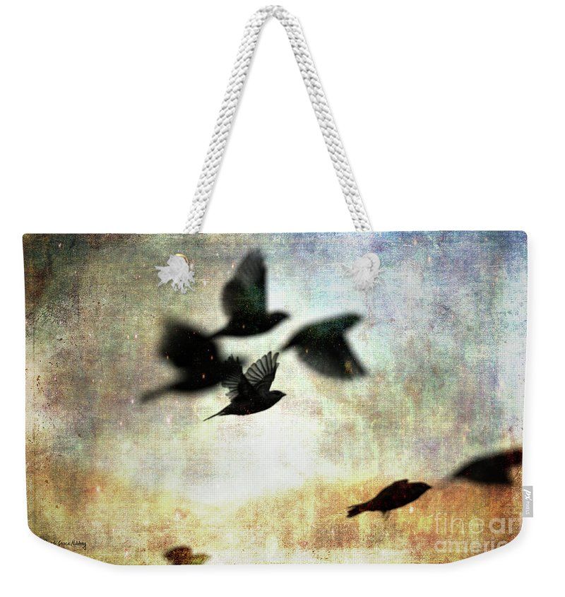 Birds Weekender Tote Bag featuring the photograph Fly With The Mood by Randi Grace Nilsberg