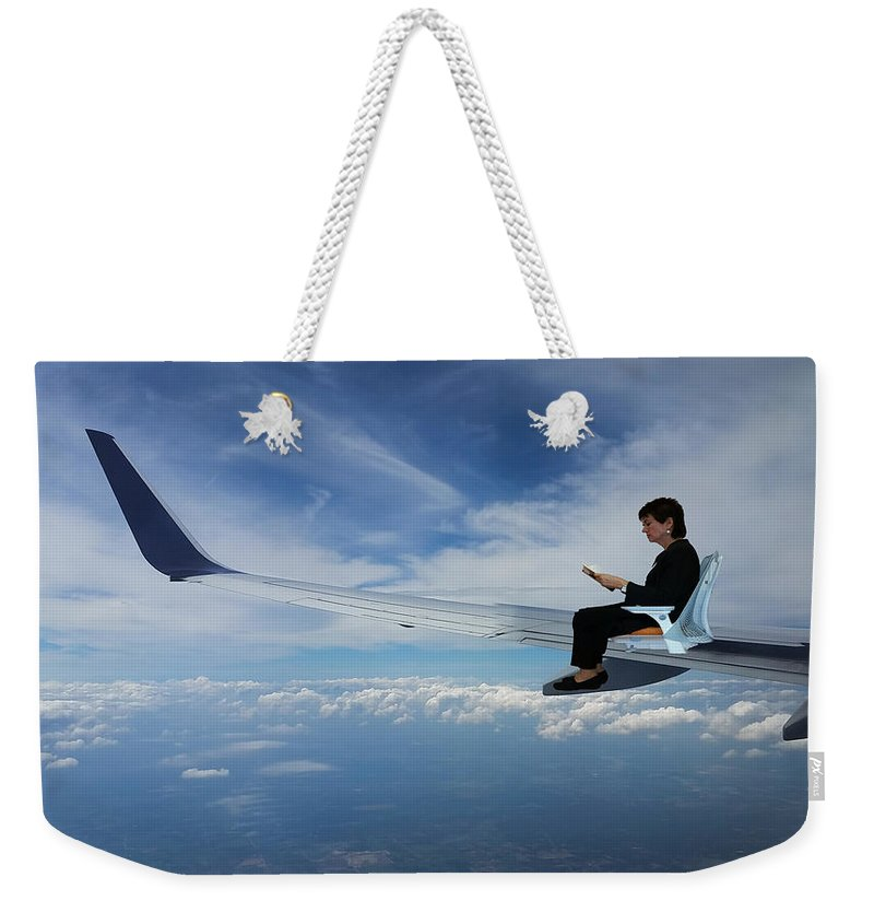 Creative Weekender Tote Bag featuring the photograph Flying 3rd Class by Madlyn Blom
