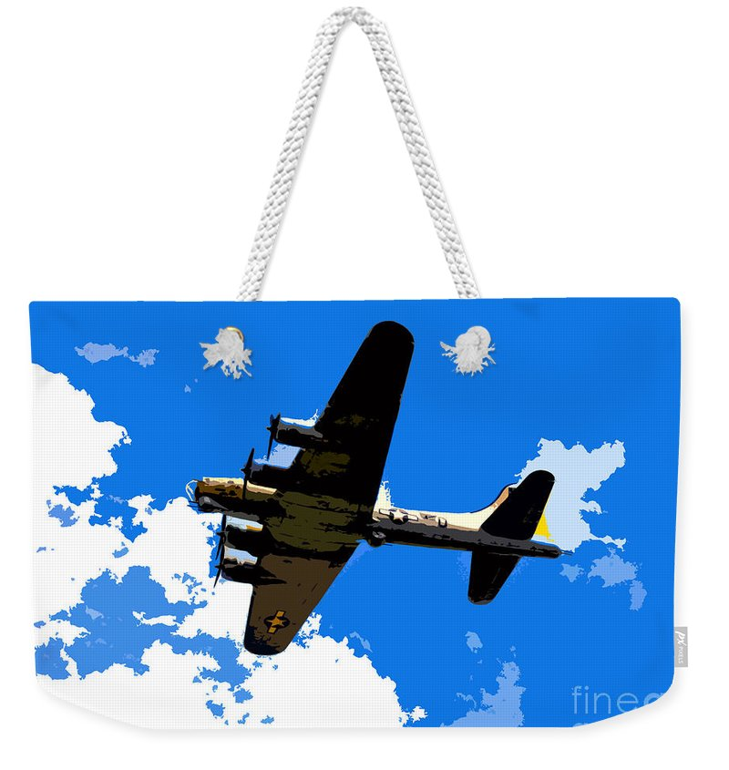 Flying Fortress Weekender Tote Bag featuring the photograph Flying Fortress by David Lee Thompson