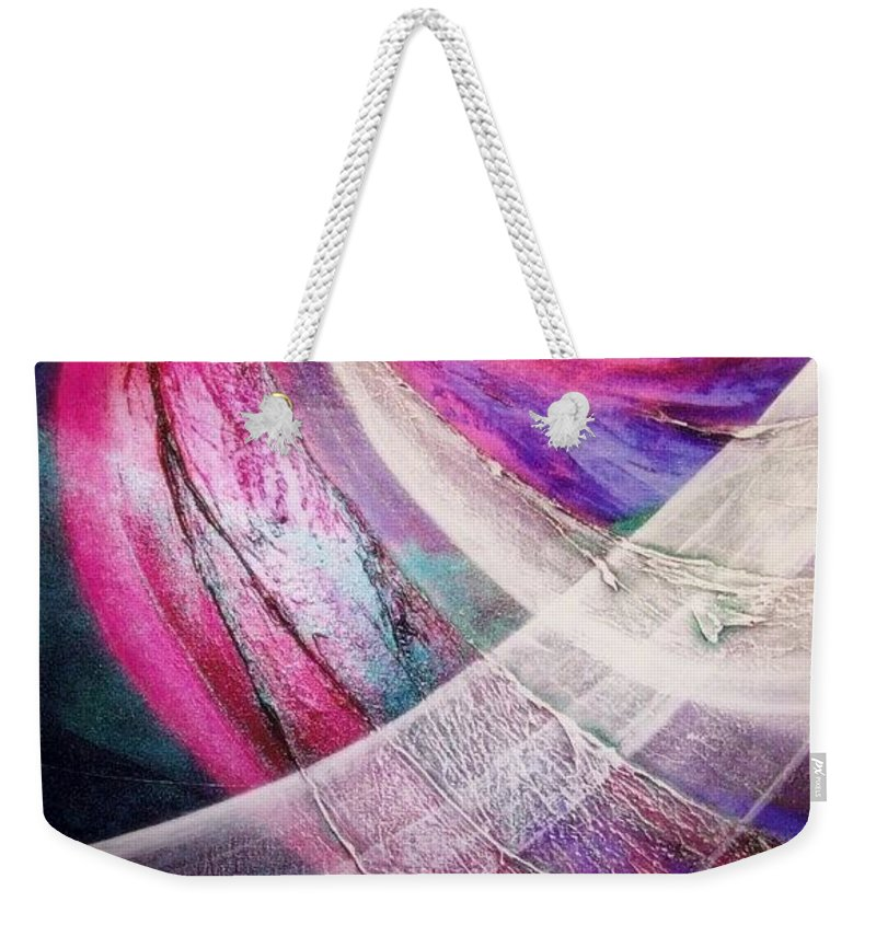 Flying. Light Weekender Tote Bag featuring the painting Flying by Kumiko Mayer