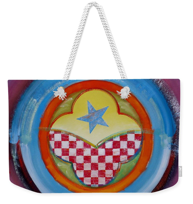 Logo Weekender Tote Bag featuring the painting Flying Star by Charles Stuart