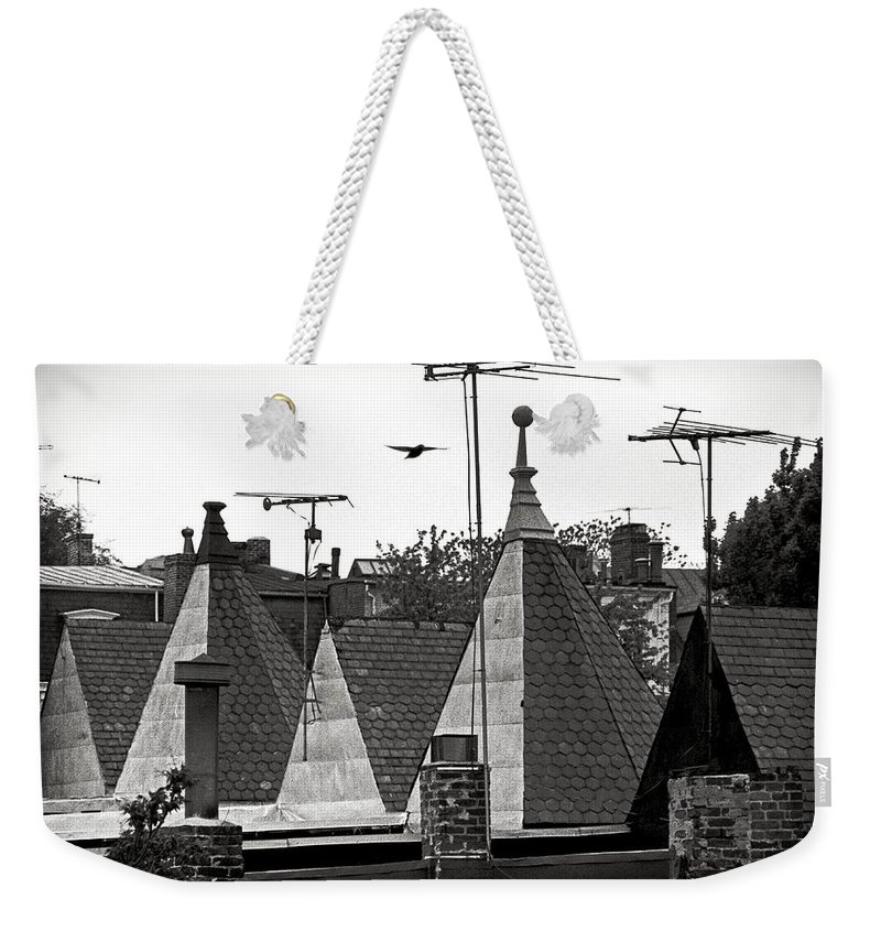 Rooftops Weekender Tote Bag featuring the photograph Flyover by Wallace Rollins
