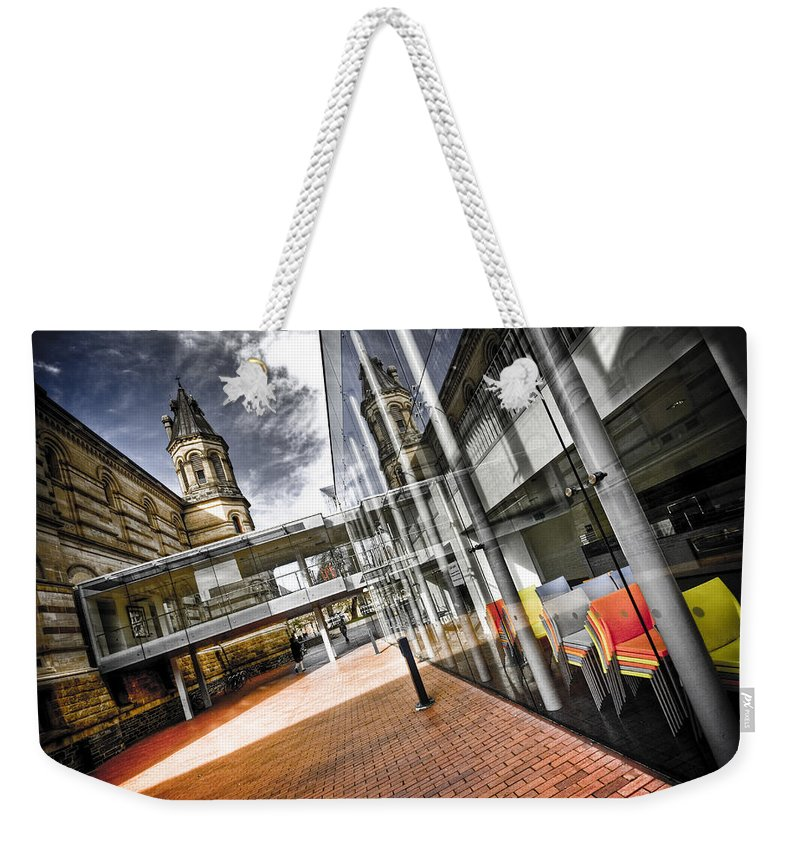 Flyover Weekender Tote Bag featuring the photograph Flyover by Wayne Sherriff