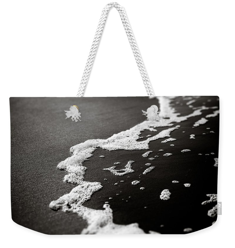 Foam Weekender Tote Bag featuring the photograph Foam by Dave Bowman