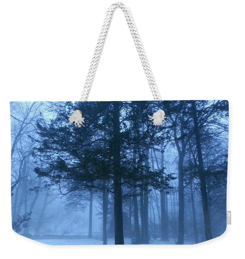 Landscape Weekender Tote Bag featuring the photograph Fog by Dani McEvoy