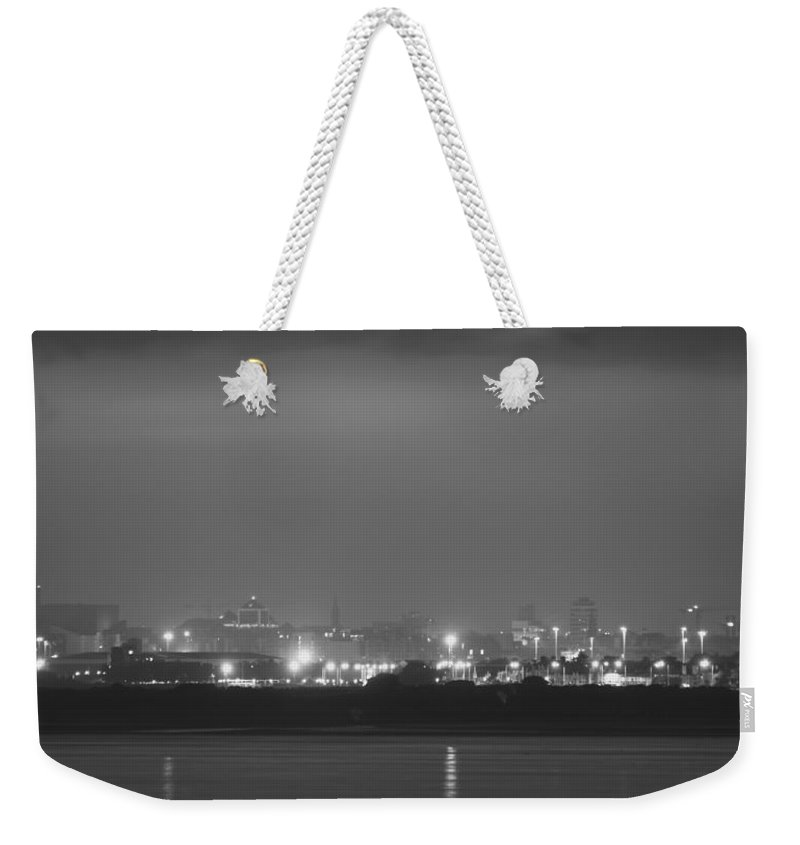 Dublin Weekender Tote Bag featuring the photograph Fog Over Dublin by Robert Phelan