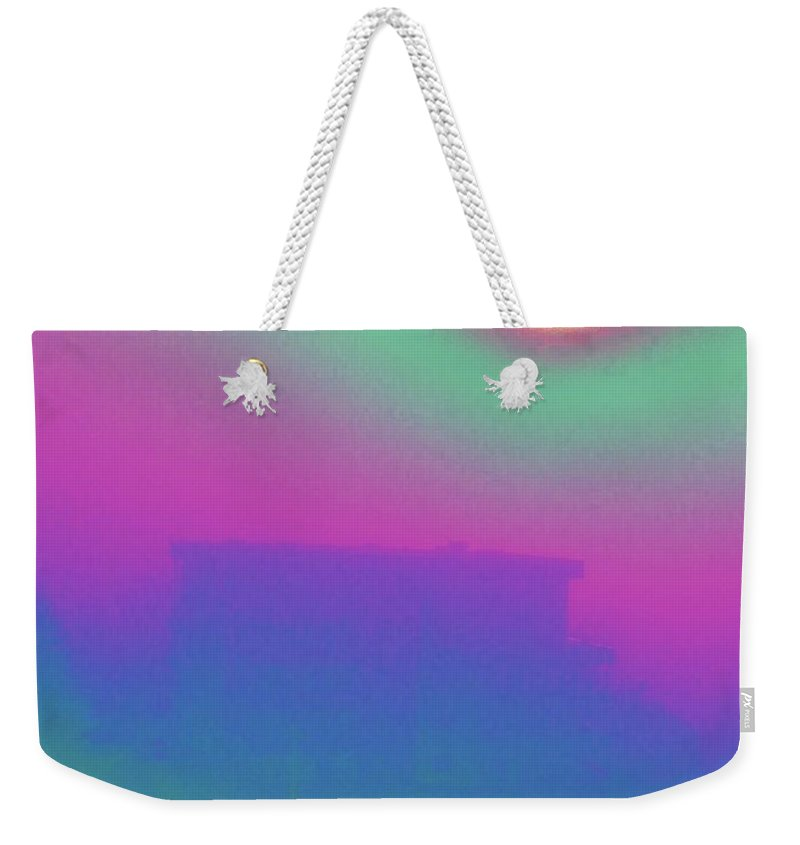 Abstract Weekender Tote Bag featuring the digital art Foggy Day by Tim Allen