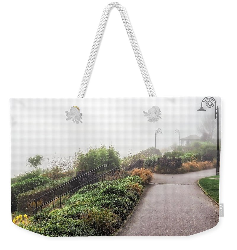 Gardens Weekender Tote Bag featuring the photograph Foggy Langmoor Gardens - Lyme Regis by Susie Peek