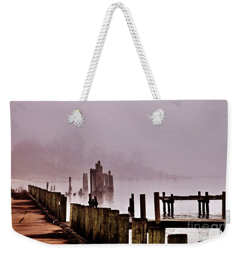 Clay Weekender Tote Bag featuring the photograph Foggy Morn by Clayton Bruster
