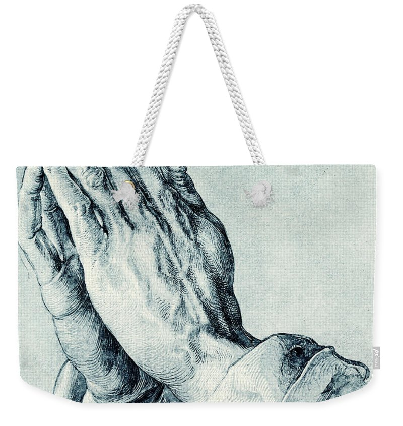 761896a86c93 Folded Hands Of An Apostle Weekender Tote Bag for Sale by Albrecht Durer