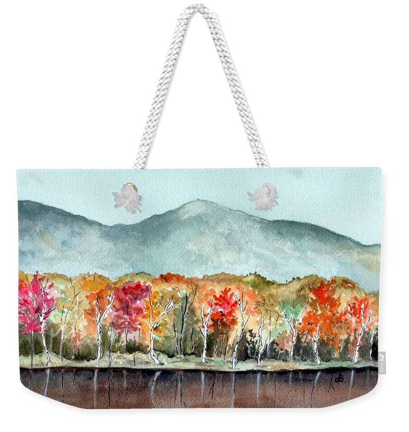 Watercolor Weekender Tote Bag featuring the painting Foliage by Brenda Owen