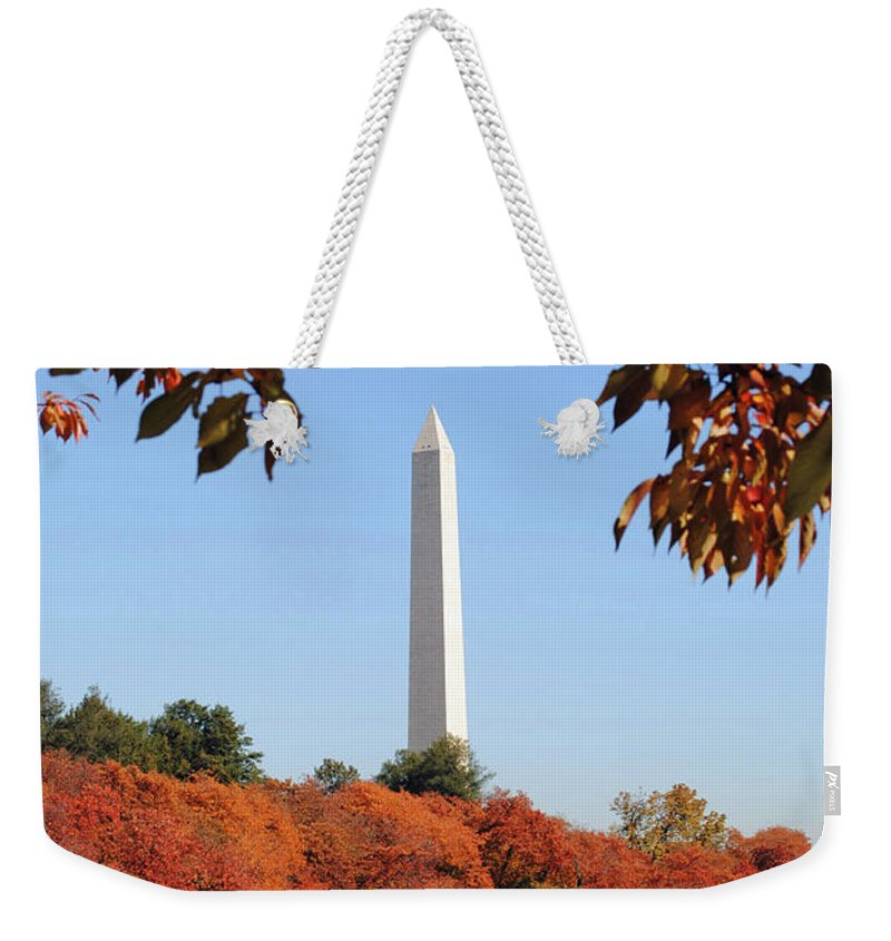 Washington Weekender Tote Bag featuring the photograph Foliage Potomac by Jost Houk