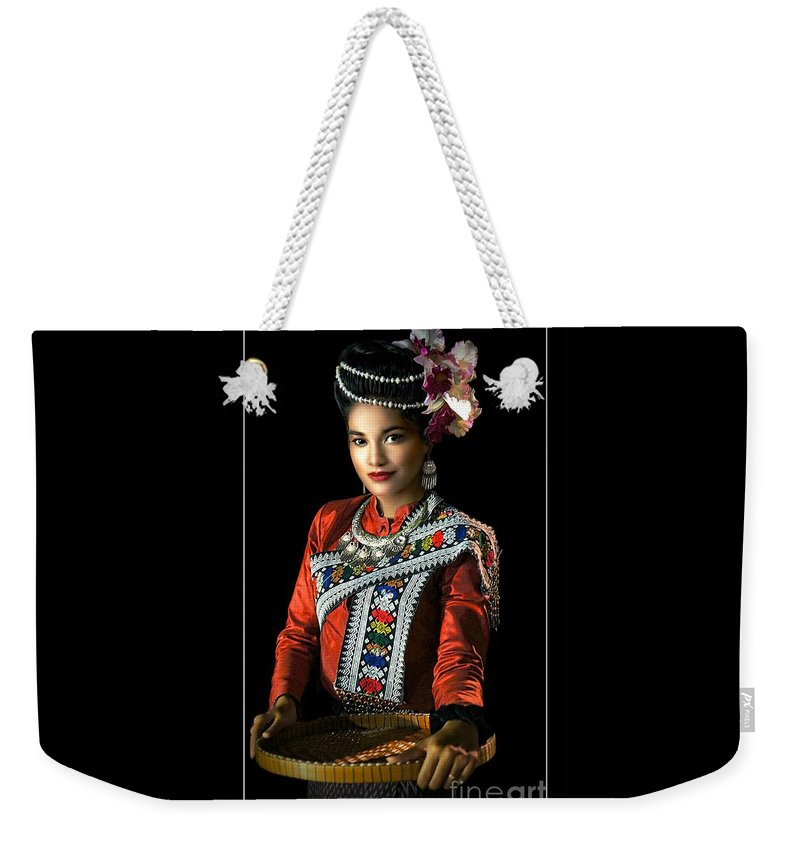 Fashion Weekender Tote Bag featuring the photograph Folk Dancer Of The North East by Ian Gledhill