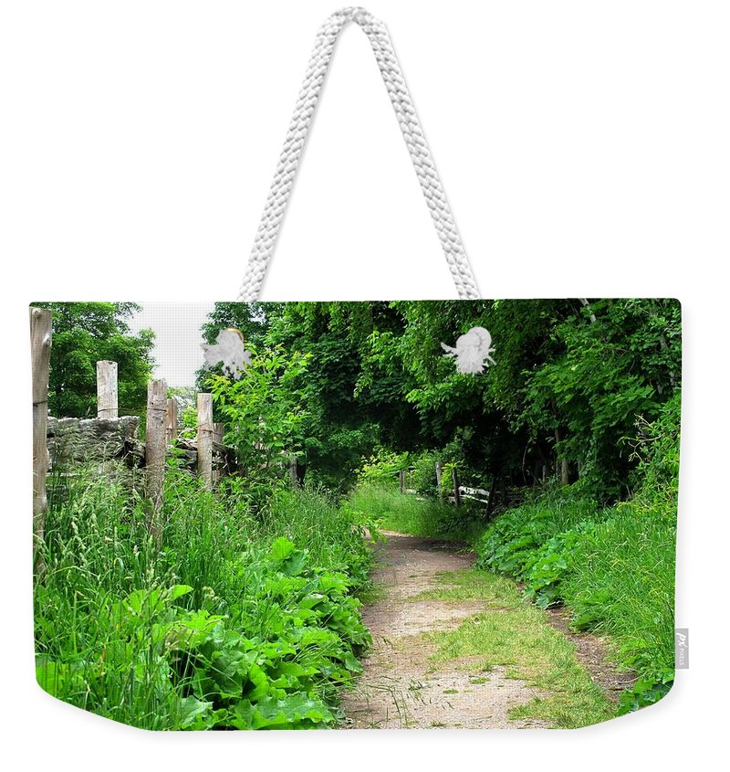 Path Weekender Tote Bag featuring the photograph Follow by Ian MacDonald