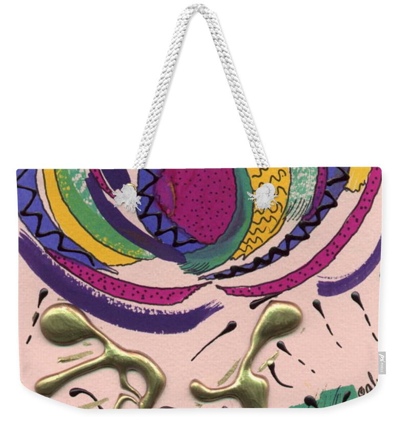 Abstract Weekender Tote Bag featuring the mixed media Follow Me by Angela L Walker
