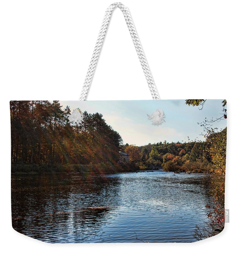 Nature Weekender Tote Bag featuring the photograph Follow The River by Mike Smale