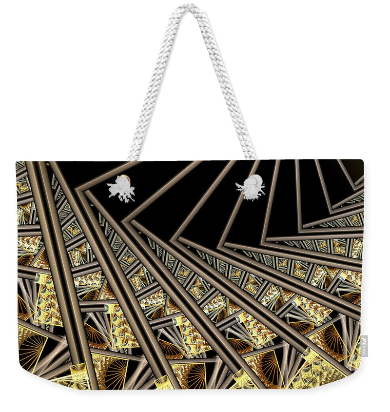 Fractal Art Weekender Tote Bag featuring the digital art Follow The Sunrays by Amorina Ashton