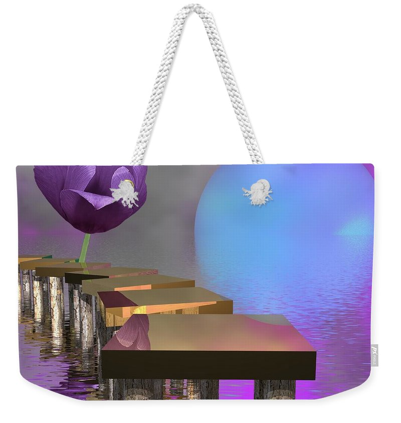 Modern Weekender Tote Bag featuring the digital art Follow The Way by Issabild -