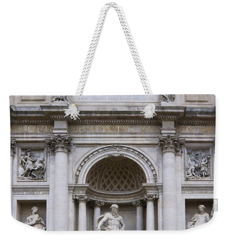 Italy Weekender Tote Bag featuring the photograph Fontana De Trevi by Sandra Bronstein