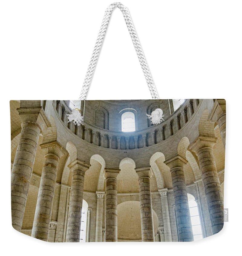 Fontevraud Abbey Chapel Weekender Tote Bag featuring the photograph Fontevraud Abbey Chapel, Loire, France by Curt Rush