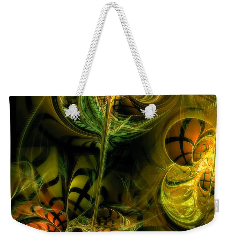Abstract Weekender Tote Bag featuring the digital art Food For Thought by Casey Kotas
