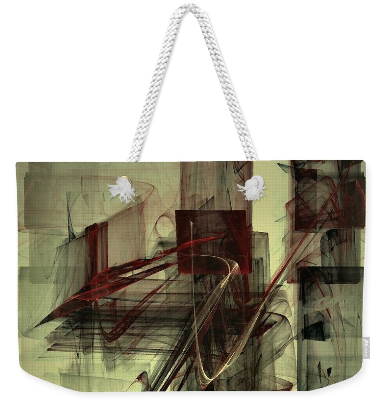 Chess Weekender Tote Bag featuring the digital art Fools Mate by NirvanaBlues