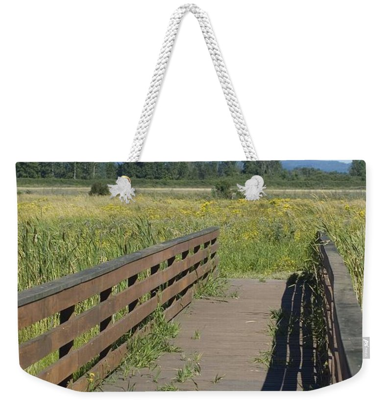 Foot Weekender Tote Bag featuring the photograph Foot Bridge by Sara Stevenson