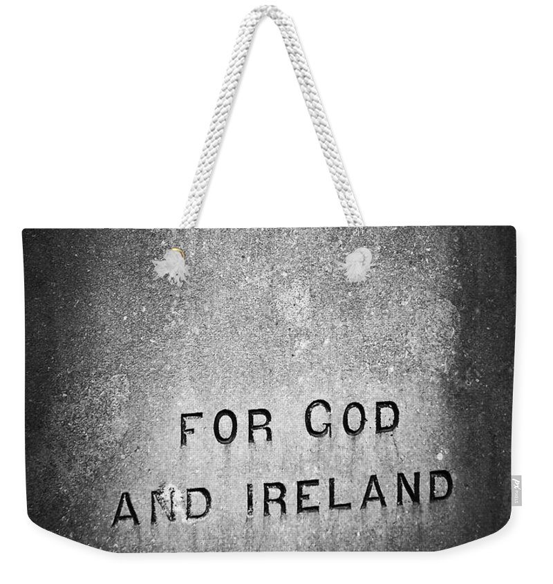 Irish Weekender Tote Bag featuring the photograph For God And Ireland Macroom Ireland by Teresa Mucha