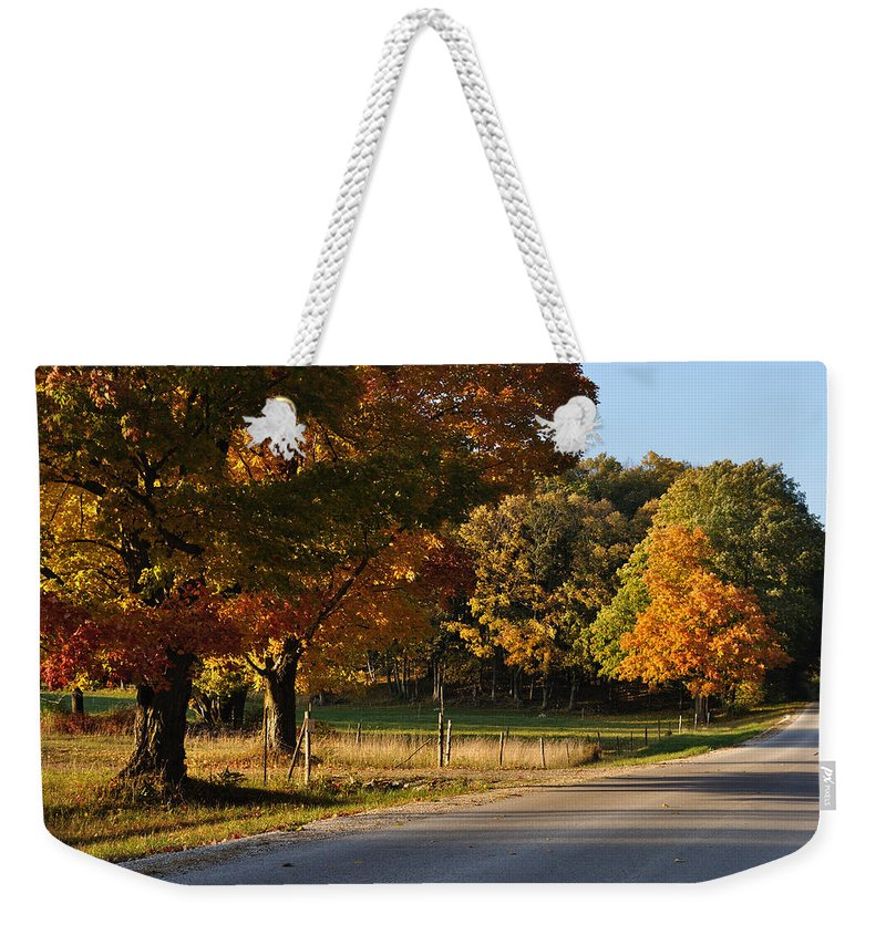 Fall Weekender Tote Bag featuring the photograph For Grazing by Tim Nyberg